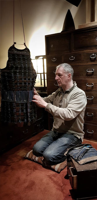 Preparing Samurai Armour in the Lacing Room